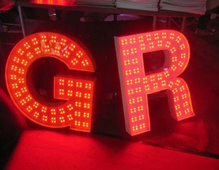 LED外露发光字制作